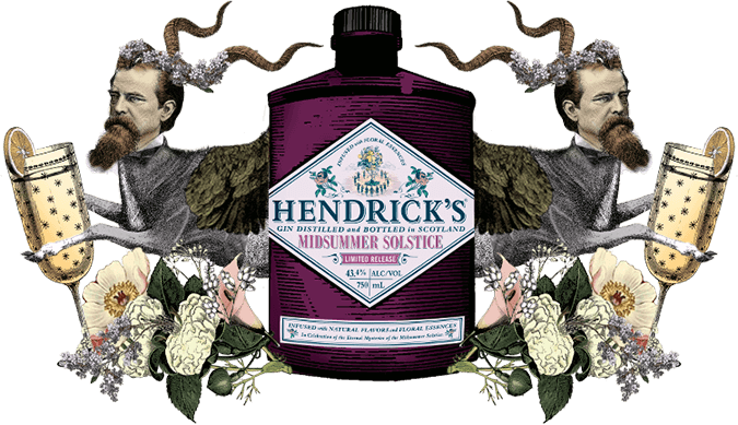 hendrick's gin with cat lady