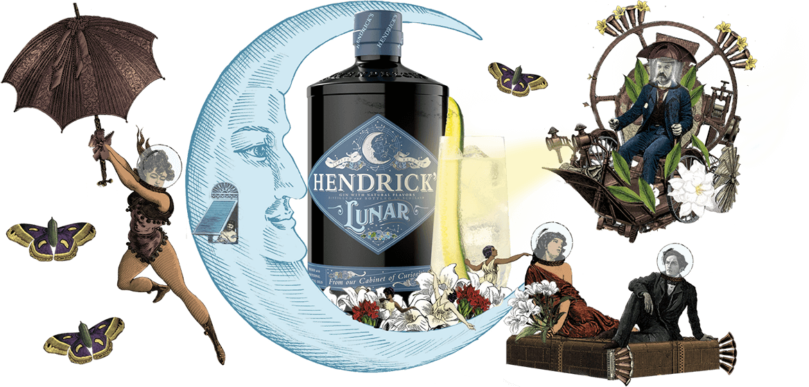 hendrick's lunar gin on the moon